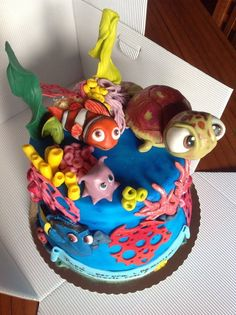 but i like it Cake by maria antonietta amatiello Take The Cake, Love Cake, Nemo Cake, Ocean Cakes, Funny Cake, Just Cakes, Holiday Cakes, Occasion Cakes, Cake Creations