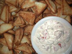 BLT Dip with Toast Triangles  www.StefsEvents.com  Facebook:  http://www.facebook.com/stefanie.dozier?ref=tn_tnmn#!/StefsEvents