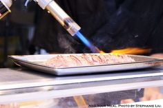 Blow Torching the Wagyu at Sushi on Jones