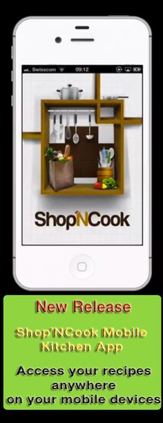 Plan your meals and access your recipes from anywhere with Shop'NCook Mobile Kitchen app. http://www.shopncook.com/blog/release-mobile-kitchen-app/