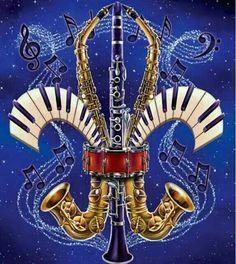 New Orleans Jazz Music-Fleur de lis