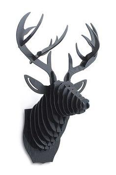 """3D Black Deer Head - Very """"Hannibal"""""""
