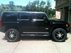Black Hummer H3 SUV Sport Utility Side