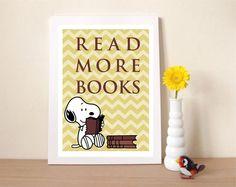 Confira aqui - Poster Snoopy - Read More Books - Frete Grátis - Hey You