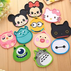 New Silicone Cartoon animal Totoro Hello Kitty Baymax Cup Coaster Nonslip Place Mat pads Cup Cushion Minions Tea Cup Holder #Affiliate