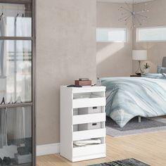 ClosetMaid Modular Storage W Stackable Unit Finish: White Closet Shelf Dividers, Modular Storage, Stackable Shelves, Closet System, Modular, Drawer Unit, Shelf Unit, Storage, Closetmaid