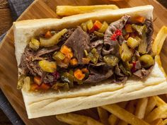 This slow cooked Italian beef can easily be prepared in advance with this quick recipe. It makes a mouthwatering and delicious dinner that everyone will love.