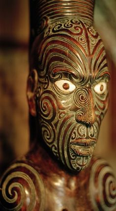 Maori Carving art - Aotearoa - Maori Colonial Museum #maoritattoosdesigns