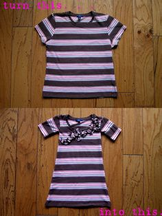 t-shirt to toddler dress- could make matching outfits