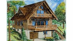 Find your dream cottage style house plan such as Plan which is a 1614 sq ft, 3 bed, 2 bath home with 1 garage stalls from Monster House Plans. A Frame House Plans, Cabin Floor Plans, House Plans And More, Small House Plans, Cottage Style House Plans, Cottage House Plans, Craftsman House Plans, Cottage Homes, Craftsman Style