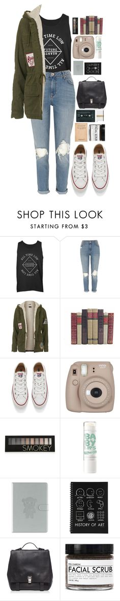 """Tidal Waves"" by ellac9914 ❤ liked on Polyvore featuring River Island, Topshop, Converse, Forever 21, Emporio Armani, Proenza Schouler, Fig+Yarrow, outfit, causal and alltimelow"