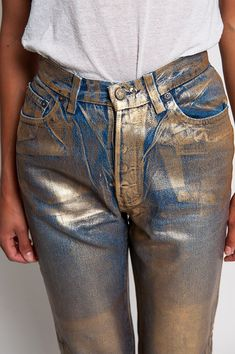 The Gold Rush Foiled Levi's Jeans