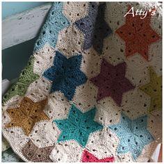 Star blanket, pattern through ravelry