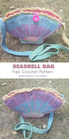 Crochet bags purses 844987948819247609 - Seashell Bag Free Crochet Pattern Source by clairehakimi Crochet Handbags, Crochet Purses, Diy Crochet Purse, Quick Crochet Gifts, Crochet For Kids, Crochet Baby, Beach Crochet, Crochet Mermaid, Crochet Girls