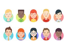 Characters by Natalie Kirejczyk #Design Popular #Dribbble #shots