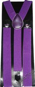men's purple suspenders