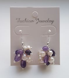 Freshwater pearls and Amethyst.