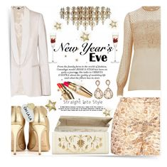 """Golden highlight - NYE"" by mood-chic ❤ liked on Polyvore featuring See by Chloé, STELLA McCARTNEY, Dolce&Gabbana, Nancy Gonzalez, Temperley London, LSA International, Iphoria and nyestyle"