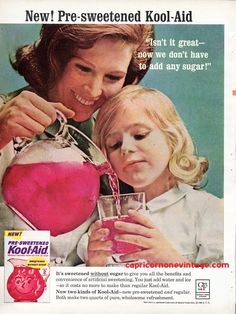 1964 Kool-Aid Magazine Ad New Pre Sweetened Sugar Free Mid Century Kitsch Retro Kitchen Decor Vintage Advertising