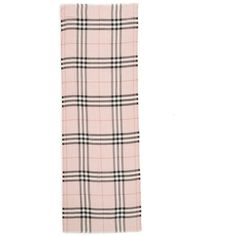 Women's Burberry Giant Check Print Wool & Silk Scarf ($395) ❤ liked on Polyvore featuring accessories, scarves, ash rose, patterned scarves, burberry shawl, lightweight scarves, burberry and silk shawl