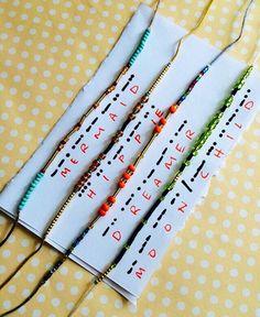 MORSE CODE Stack n stash bracelet set by Radishmebaby on Etsy