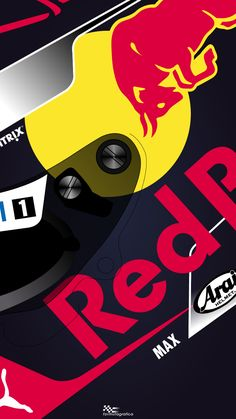 Iphone Wallpaper - 2018 Formula 1 Season - Aston Martin Red Bull Racing - Helmets - Max Verstappen Finally people!!! The first helmets are here!!! Max Verstappen is the second driver to show his helmet, he also did through another video in the Red...
