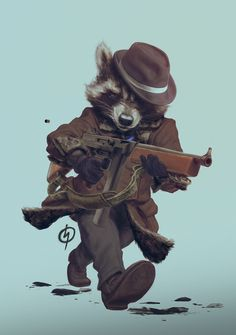 Gangster Racoon by Pasha Terex | Cartoon | 2D | CGSociety