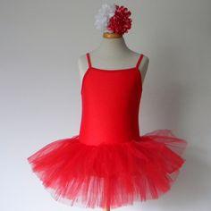Balletpakje rood www.laluzz.nl