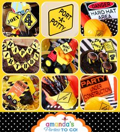 Construction Party Printable - Dump Truck - Builder - Birthday -Huge Party Set by Amanda's Parties TO GO