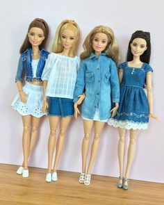 Sewing Clothes Kids Barbie Dolls 30 Super Ideas – Sewing barbie clothes - My CMS Sewing Barbie Clothes, Barbie Sewing Patterns, Doll Clothes Patterns, Clothing Patterns, Diy Clothes, Shirt Patterns, Dress Sewing, Dress Patterns, Barbie Et Ken