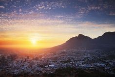 Sunrise over Cape Town