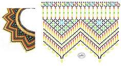 Natali Khovalko Diy Necklace Patterns, Bead Loom Patterns, Beaded Jewelry Patterns, Peyote Patterns, Beading Patterns, Beaded Crafts, Bead Jewellery, Beading Tutorials, Loom Beading