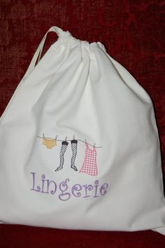 French Lingerie Laundry Bag  Perfect by TheInevitableStore on Etsy, $15.00