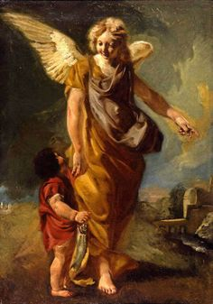 The Archangel Raphael with Tobias //  circa 1760 //   Attributed to Antonio…