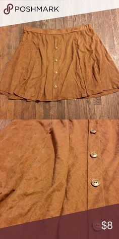 suede skirt very used, price reflects condition Skirts Circle & Skater