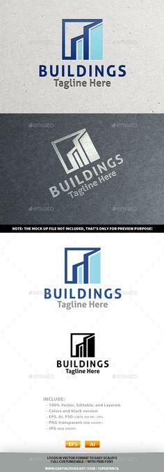 Buildings  Logo Design Template Vector #logotype Download it here:  http://graphicriver.net/item/buildings-logo/10218194?s_rank=716?ref=nexion