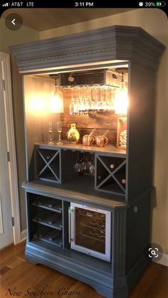 Items similar to Custom Armoire Bar Cabinet, Coffee Station, Wine Cabinet, Rustic Bar, Repurposed Armiore Cabinet on Etsy Refurbished Furniture, Cabinet Furniture, Repurposed Furniture, Vintage Furniture, Diy Furniture Repurpose, Furniture Dolly, Dining Furniture, Armoire Bar, Bar Hutch