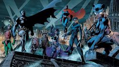Batman Robin Dc Comics Superman Catwoman Huntress Oracle Nightwing Jim Lee James Gordon Barbara Gordon Fresh New Hd Wallpaper [Your Popular HD Wallpaper] (shared via SlingPic) Jim Lee Batman, Batman Hush, Logo Batman, Batman Robin, Robin Dc, Gordon Batman, Batman Batman, Nightwing, Batwoman
