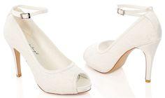 #LosZapatosdetuBoda #GWesterleigh  Zapatos de Novia Peep Toe Vintage modelo Leila de G. Westerleigh