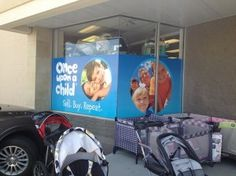Once Upon a Child in Danbury, CT showcases their brand with this #windowdecals / #windowgraphics