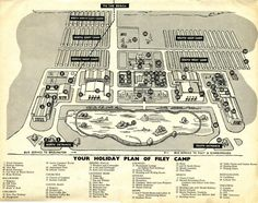 Filey Map from 1962 Butlins Holidays, Park Playground, Playgrounds, North Yorkshire, Camps, Vintage Postcards, Looking Back, Resorts, Seaside