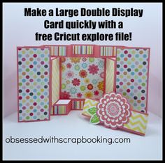 [Video]Make a FAST Cricut Large Double Display Card