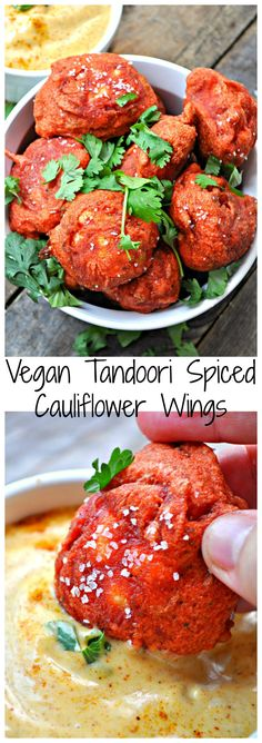 Vegan tandoori spiced cauliflower wings are your new favorite way to eat cauliflower! Fragrant, a little spicy and super crispy!