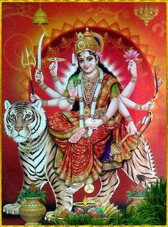 Navratri Puja will help you overcome all your negativities. Flourish with wealth on this Navratri by offering Homam to Lakshmi, Saraswathi & Durga. Maa Durga Photo, Maa Durga Image, Durga Kali, Durga Puja, Durga Goddess, Kali Hindu, Hindu Art, Shiva Art, Krishna Art