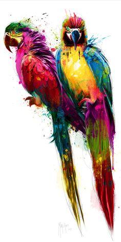 - Contemporary Modern Art Pop Art, as a canvas p Animal Paintings, Animal Drawings, Art Drawings, Art Pop, Watercolor Bird, Watercolor Paintings, Murciano Art, Patrice Murciano, Pintura Graffiti
