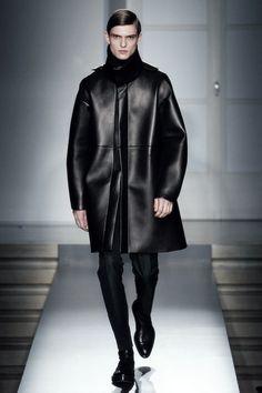 Guerrino Santulliana at Jil Sander F/W 2014 / leather / #MIZUstyle