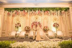 Wedding Backdrop Stage Indoor Ceremony Ideas W Wedding Reception Layout, Wedding Ceremony Flowers, Wedding Stage, Wedding Reception Decorations, Wedding Themes, Wedding Centerpieces, Wedding Venues, Wedding Photos, Reception Ideas