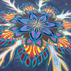 Sand Painting, Sand Art, Street Art, Nyc, Colorful, Facebook, New York