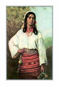 Gypsy Girl by Theodor Aman Gypsy Girls, Gypsy Women, Gypsy Life, Gypsy Soul, Romanian Gypsy, Gypsy People, Vintage Gypsy, Portraits, Romanticism