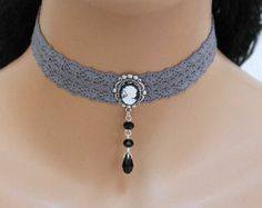 Lace Necklace, Lace Jewelry, Fabric Jewelry, Jewelery, Jewelry Accessories, Women Jewelry, Jewelry Design, Victorian Jewelry, Gothic Jewelry